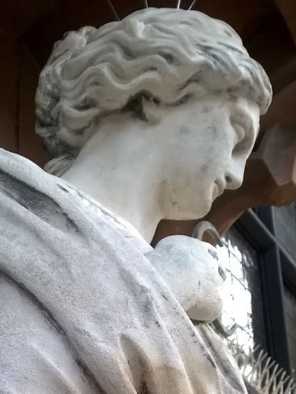 The same statue after chemical cleaning
